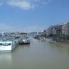 Árvíz 2013 június, Budapest - Pesti rakpart a Szabadság hídról