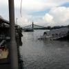 Árvíz 2013 június, Budapest - pénteken még kilátszott a légkondi, vasárnap már csak a teteje.