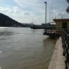 Árvíz 2013 június, Budapest - Pesti alsó rakpart a Szabadság hídnál